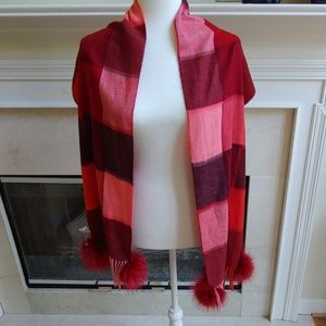 Mitchie's Matchings l Red Pink Check Scarf